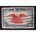 Eagle Air Post Mail Stamp 6 Cents Scott C-23 1937