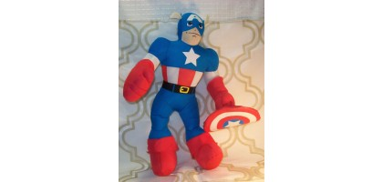 "Marvel Spiderman Friends Captain America 14"" plush"