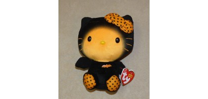 TY - beanie babies - Sanrio Hello Kitty - Halloween bat outfit 2014