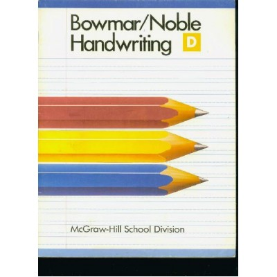 Bowmar / Noble Cursive Handwriting Book D Digital Delivery E-book