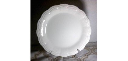 Mikasa-DH 900 Allura Dinner Plate (White) 11 inch dish scalloped ribbed edge