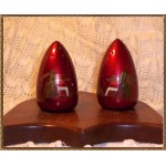 Candy Apple Red Bullet Salt & Pepper Shakers  1940s