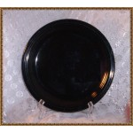Concentrics Sakura Black Fiesta style Dinner Plate