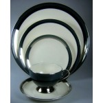 Flintridge Gorham Contessa Dark Greem rim Dinner Plate