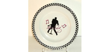 1977 Official Elvis Presley Salad Plate 7 1/2""