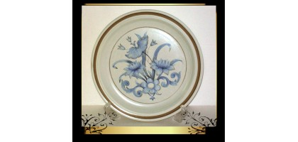 Royal.doulton Inspiration LS1016 Dinner Plate 10.5 Inch Blue Floral