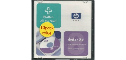 DVD+R 4.7GB DVD Recordable Discs ( 10-Pack : Jewel Cases )