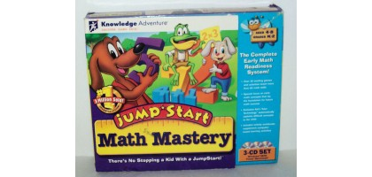 Jumpstart Math Mystery Ages 4-8 K-2nd 3 CD Set Math readiness system 30 games