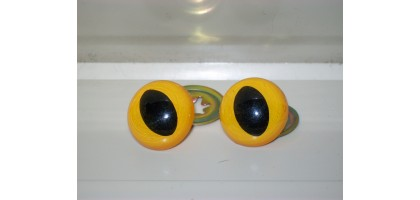 Yellow Cats Eye Slit center for dolls or bears stuffed animals