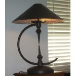 Iron and Metal Lamp Ornate and Gothic Style with 2 vintage finials built in