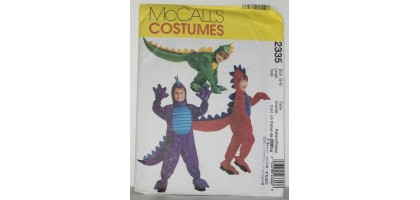 McCalls Pattern  2335 dragon costume Size  Talle, Large  5,6