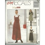 Misses Jumper Size 18-20-22 - Sew News Series  - Easy Mccalls Sewing Pattern #9512