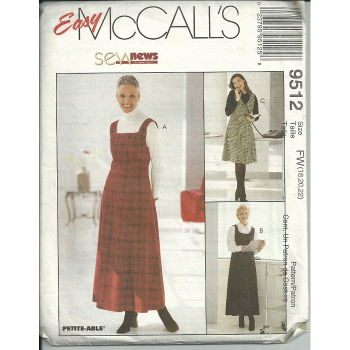 Misses Jumper Size 18-20-22 - Sew News Series - Easy Mccalls Sewing ...
