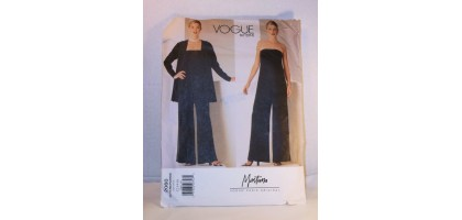 Vogue Paris Original JUMPSUIT & JACKET Pattern 2060 Uncut Claude Montana