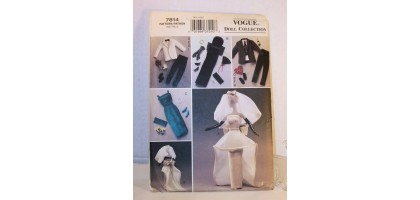 BARBIE KEN TUXEDO WEDDING DRESS + VOGUE 7814 FASHION DOLL PATTERN MINT UNCUT