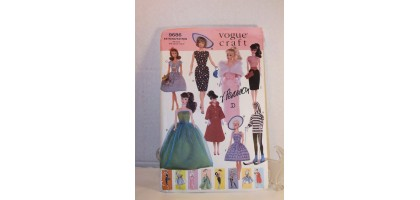 "Vogue 9686 Pattern Barbie 11-1/2"" Fashion Doll Retro Wardrobe 8 Outfits"