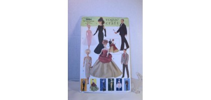 "Vogue Pattern Craft 9894 Barbie Ken 11 1/2"" Fashion Doll Vintage Clothes"