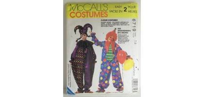 McCalls Pattern  6719 Clown Costumes Size  Talle  7,8
