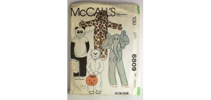McCalls Pattern  6809 animal costumes Size  Talle, Large  5,6