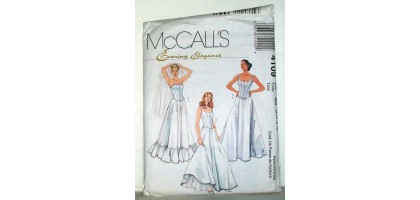 McCalls Pattern 4109 evening elegance wedding apparel Tall  8-10-12-14