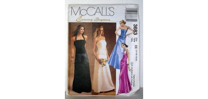 McCalls Pattern 3683 Evening Elegance Dresses Size Tall  EE 14-16-18-20