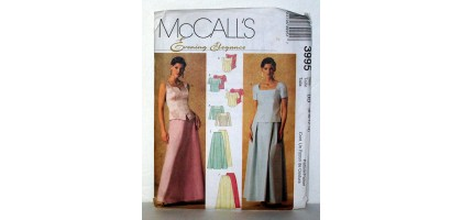McCalls Pattern  3995 Evening Elegance Dresses