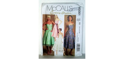 McCalls Pattern  M5001 Evening Elegance Dresses Size Tall  DD - 12-14-16-18