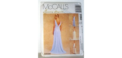 McCalls Pattern 2082 Evening Elegance Dresses Size Tall  B 8 - 10-12