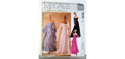 McCalls Pattern 3535 Evening Elegance Dresses Size Tall  C - 10-12-14