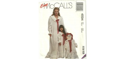 McCall's Pattern 4594 Ragedy Anne Costume nightgown