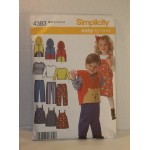 Simplicity Pattern 4383 Easy to Sew Children's