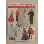 "2004 Simplicity 4754 SEWING PATTERN 11 1/2"" Fashion Doll Clothes"