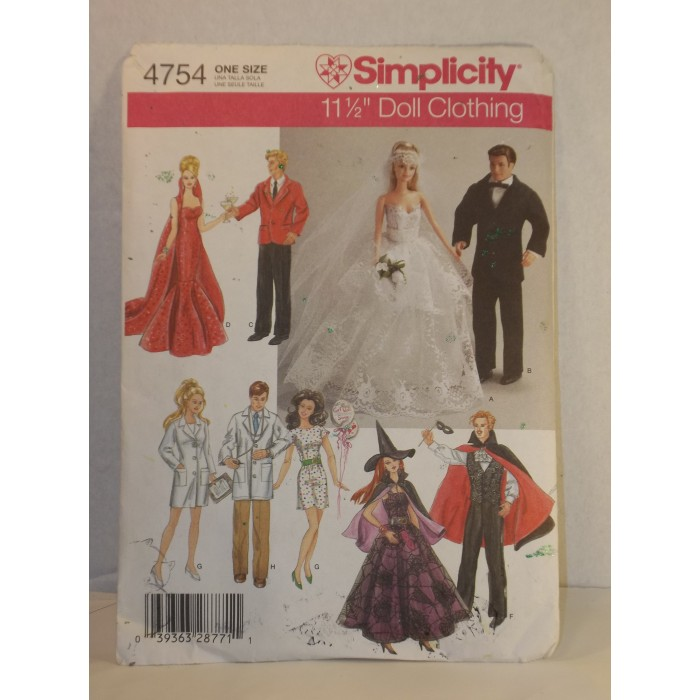 2004 Simplicity 4754 SEWING PATTERN 11 1/2\