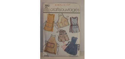 Simplicity 7052 Vintage Sewing Pattern Aprons Bib Full Half Bust 32 - 40