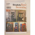 Simplicity Pattern 8255 Storage Unit Covers for Framed Shelves