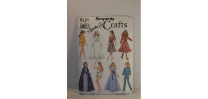 Simplicity 8333 Craft Doll Clothes Pattern