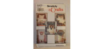 Simplicity 8403 Window Treatment Craft Sewing Pattern