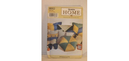 Simplicity Home Pattern 8662, Elegant and Casual Pillows