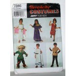 Simplicity Costumes Jiffy for Kids 7386 costumes