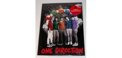 One Direction 2 Pocket Folder 3 hole punched New