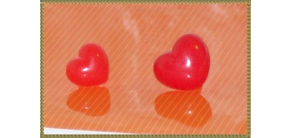 Acrylic red Heart  Nose 1/2""
