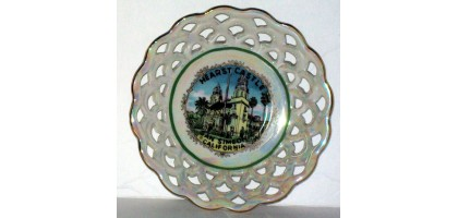Hearst Castle Lattice trinket tray or mini plate Collectible